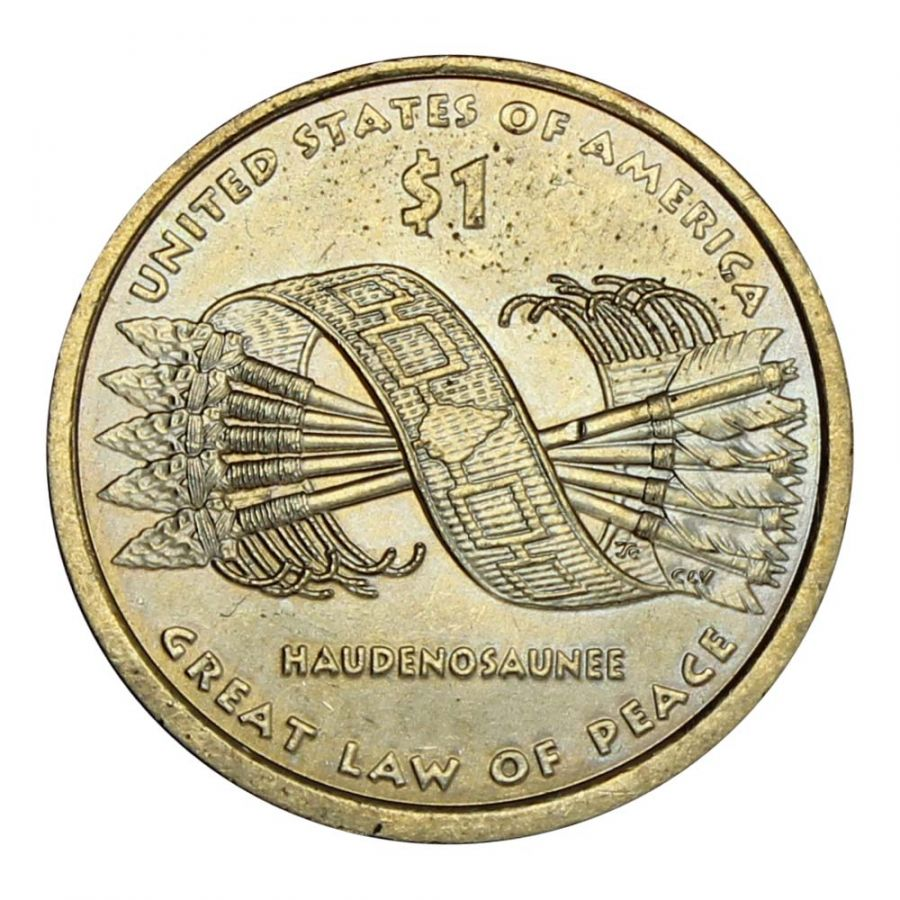 1 доллар 2010 США Пояс Гайавата (Коренные Американцы)