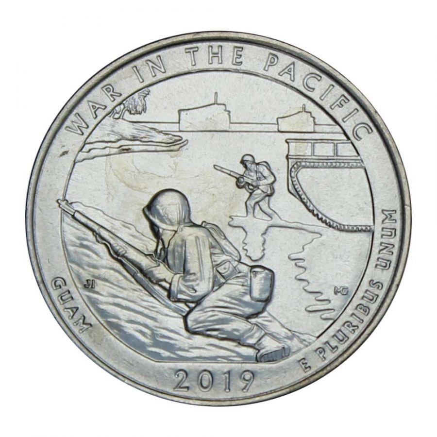 25 центов 2019 США Национальный исторический парк Войны в Тихом океане D