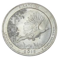 25 центов 2015 США Национальный лес Кисатчи P