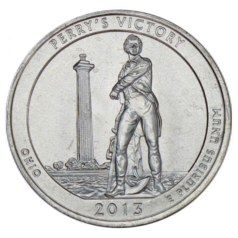 25 центов 2013 США Победа Перри и Международный мемориал мира P