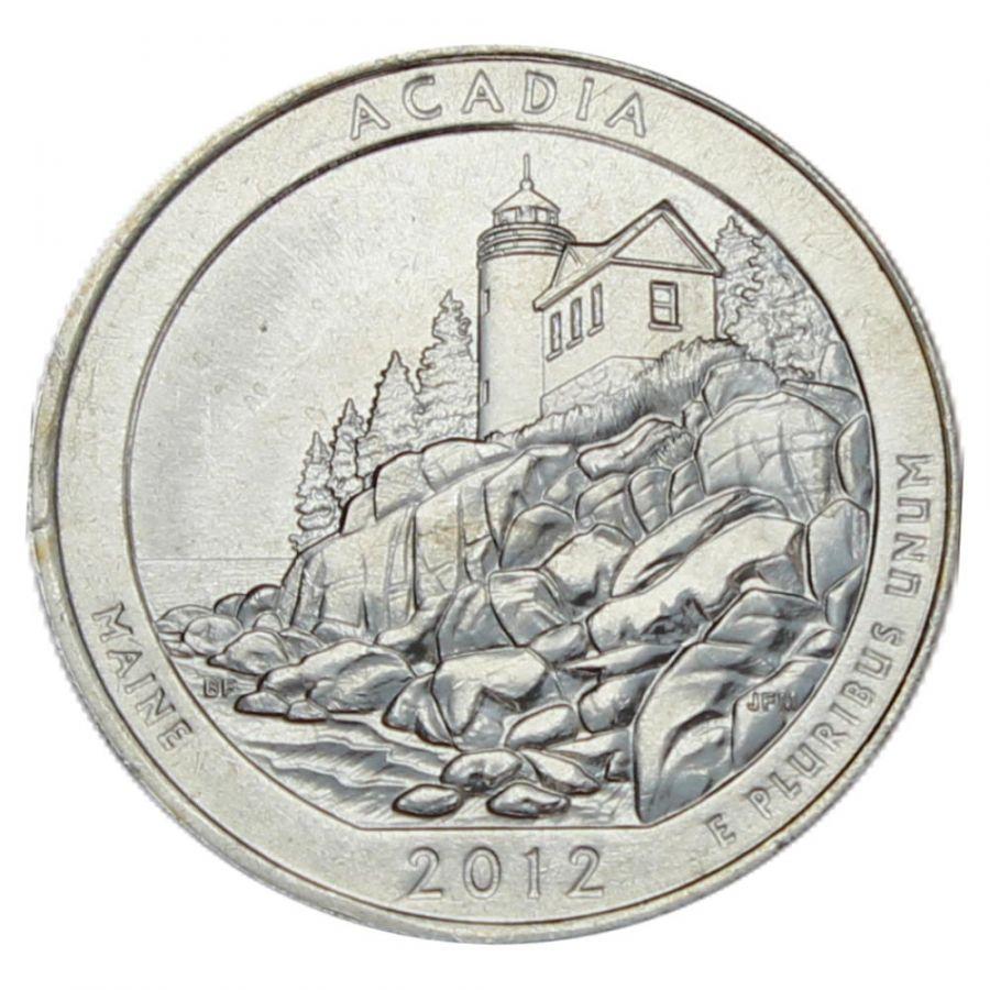 25 центов 2012 США Национальный парк Акадия P