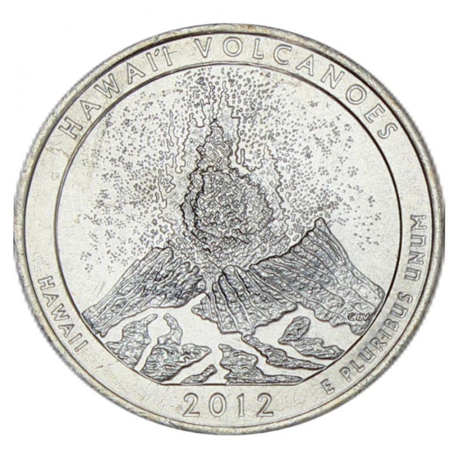 25 центов 2012 США Национальный парк Гавайские вулканы P
