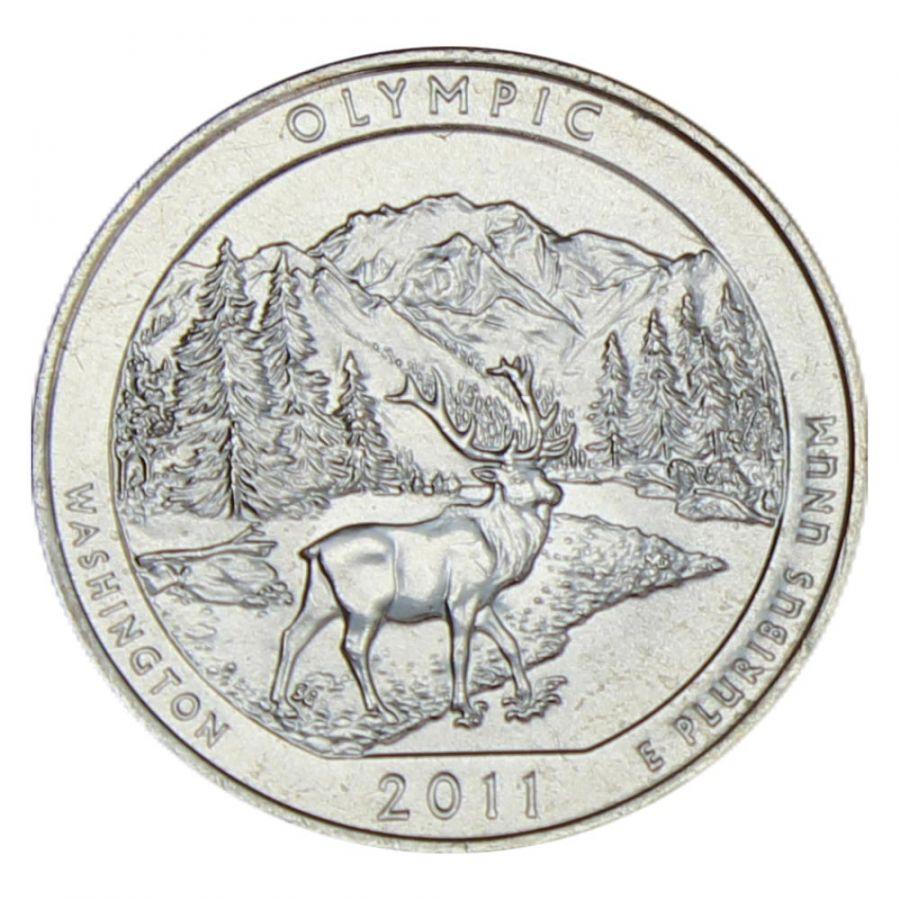 25 центов 2011 США Национальный парк Олимпик P