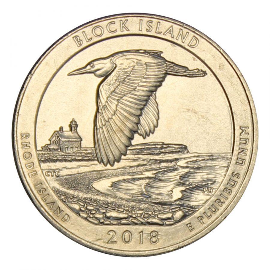 25 центов 2018 США Национальное убежище дикой природы острова Блок P