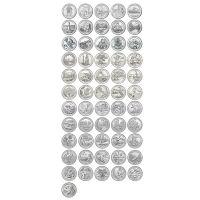 Набор 25 центов 2010-2021 США Национальные парки (56 монет)