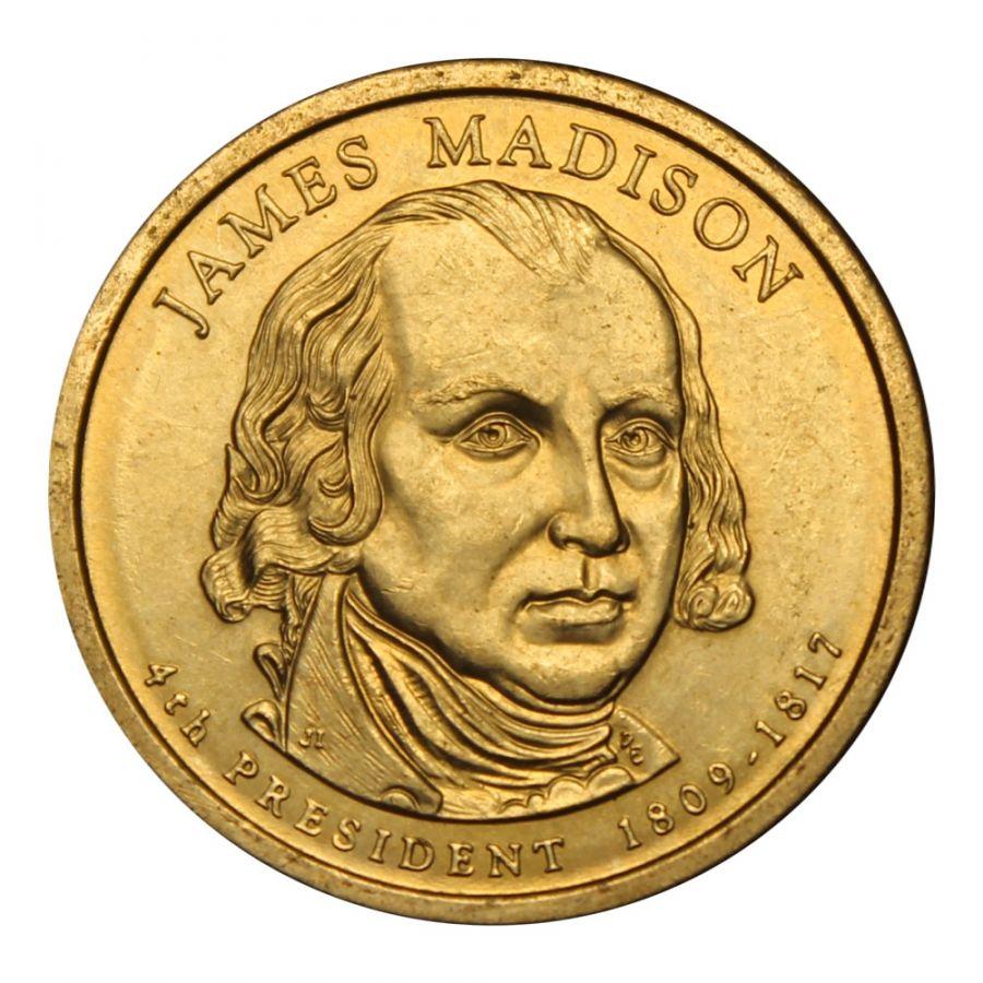 1 доллар 2007 США Джеймс Мэдисон (Президенты США)