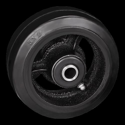 Большегрузное обрезиненное колесо без кронштейна D