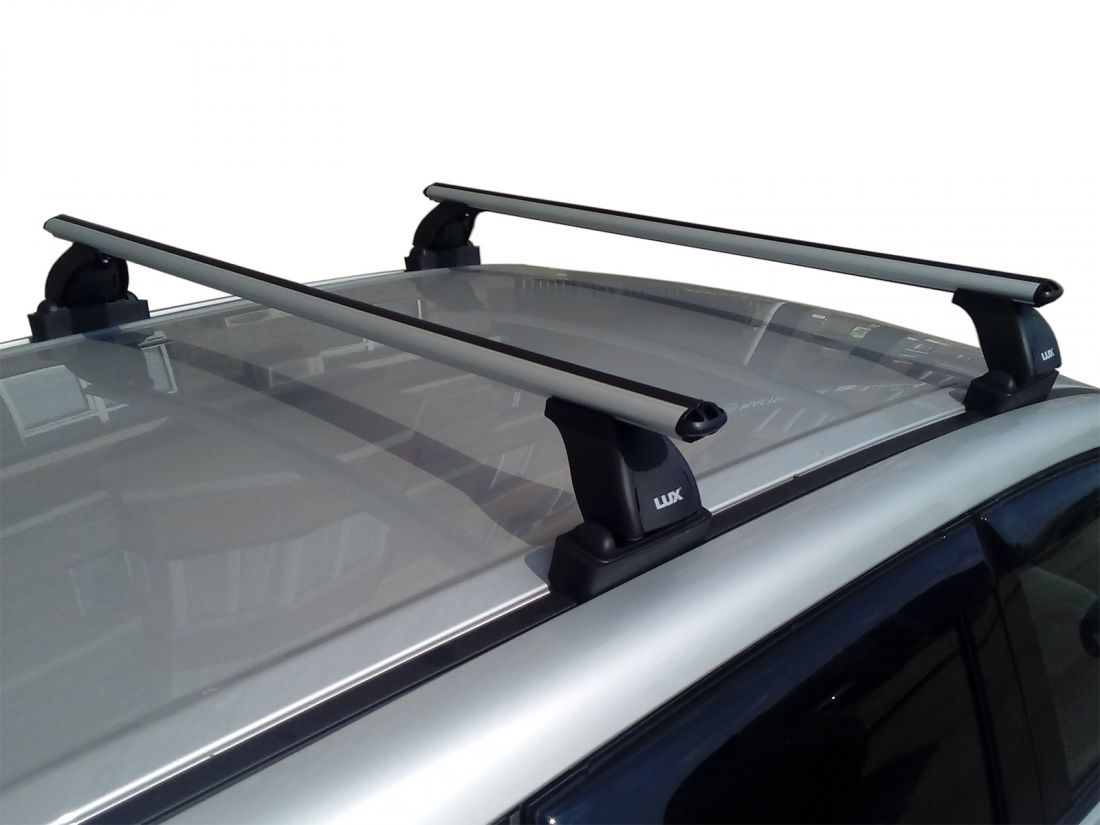 Багажник на крышу Suzuki Vitara 2015-..., Lux, аэродинамические дуги (53 мм)