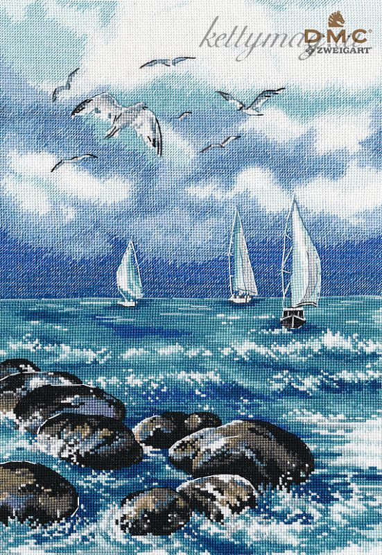 Набор для вышивания ОВЕН арт. 1308 О, море, море 22х32 см