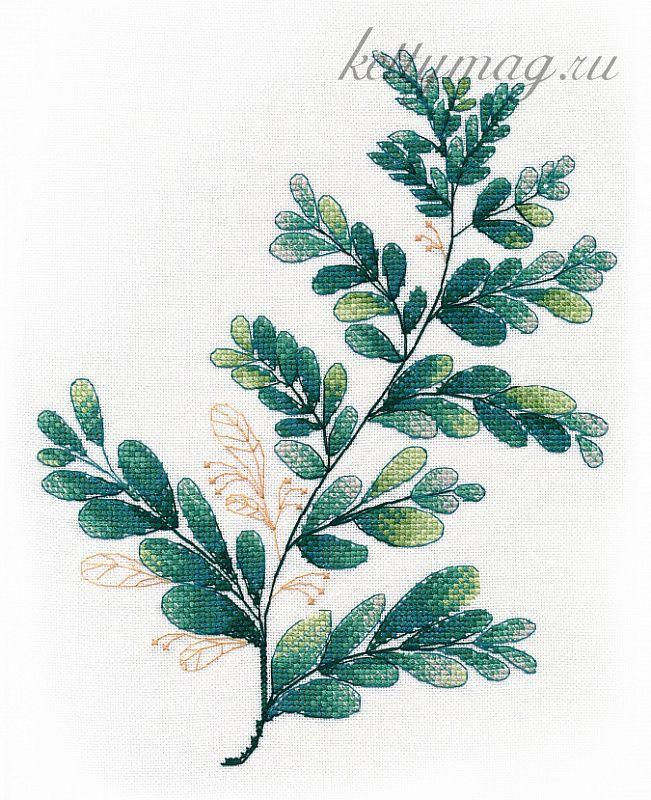 Набор для вышивания ОВЕН арт. 1316 Тропическая зелень №3 20х25 см