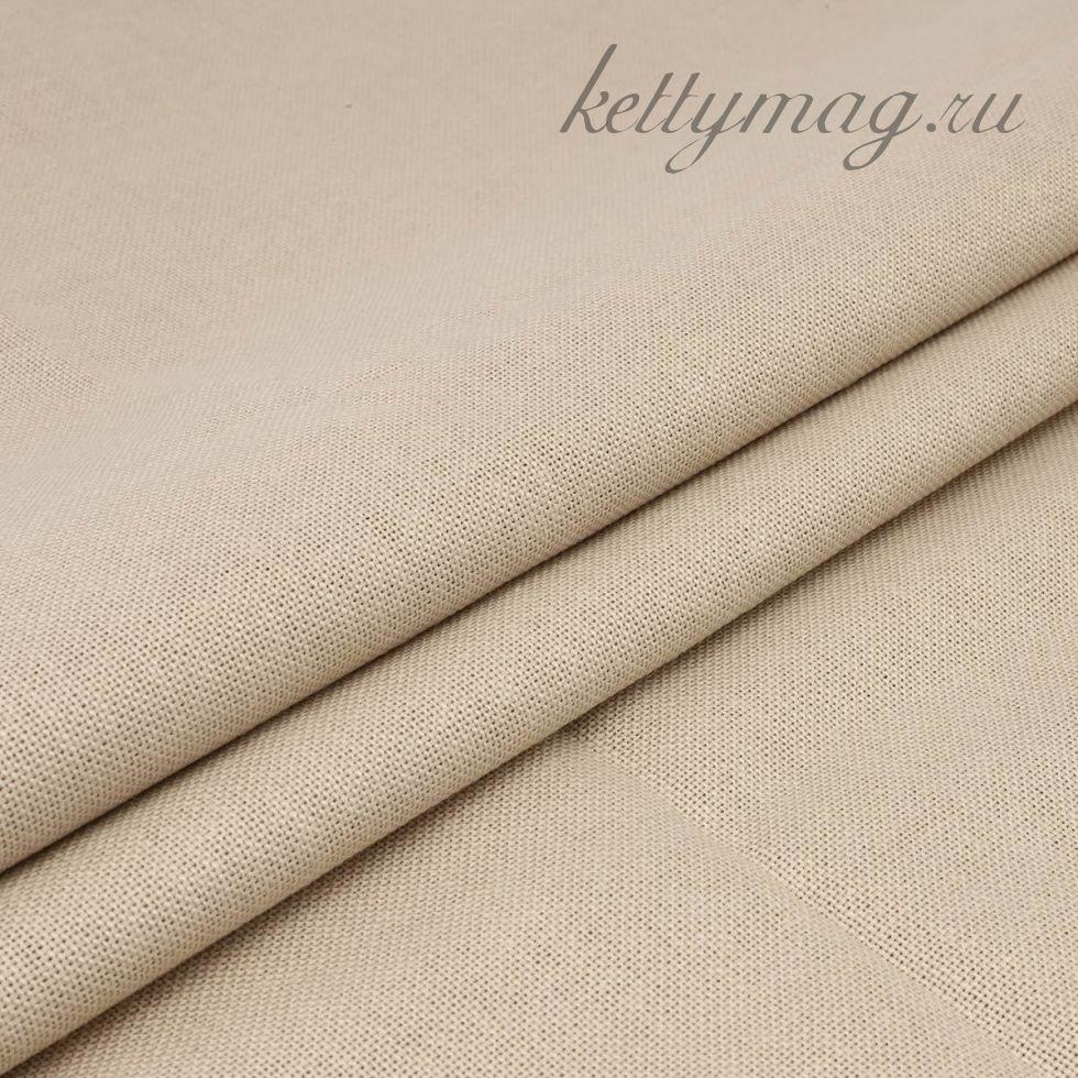 Ткань для вышивания равномерного переплетения цветная 30ct, 100% хлопок бежевая