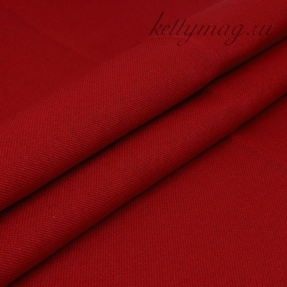 Ткань для вышивания равномерного переплетения цветная 30ct, 100% хлопок, вишневая