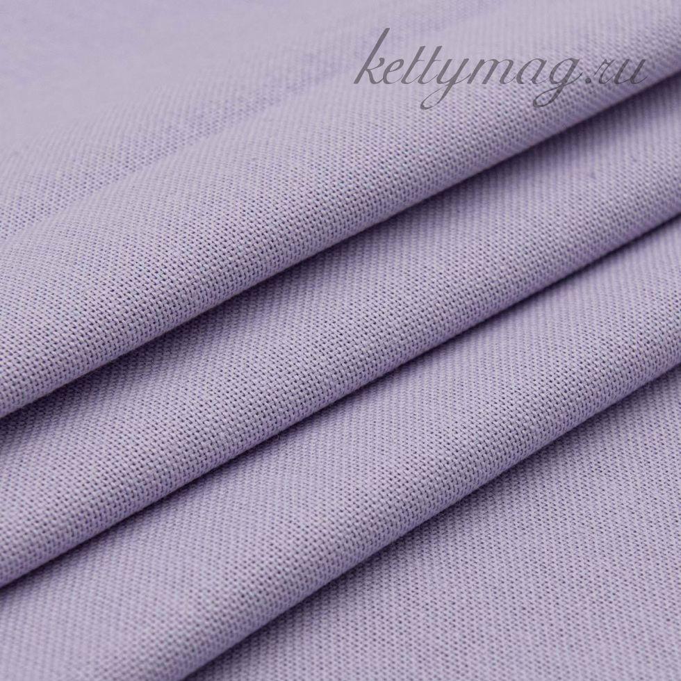 Ткань для вышивания равномерного переплетения цветная 30ct, 100% хлопок, сиреневая