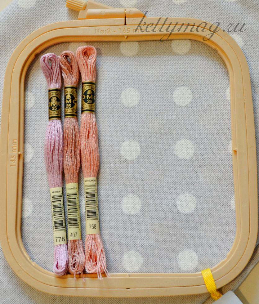 Ткань для вышивания равномерного переплетения цветная 30ct, 100% хлопок