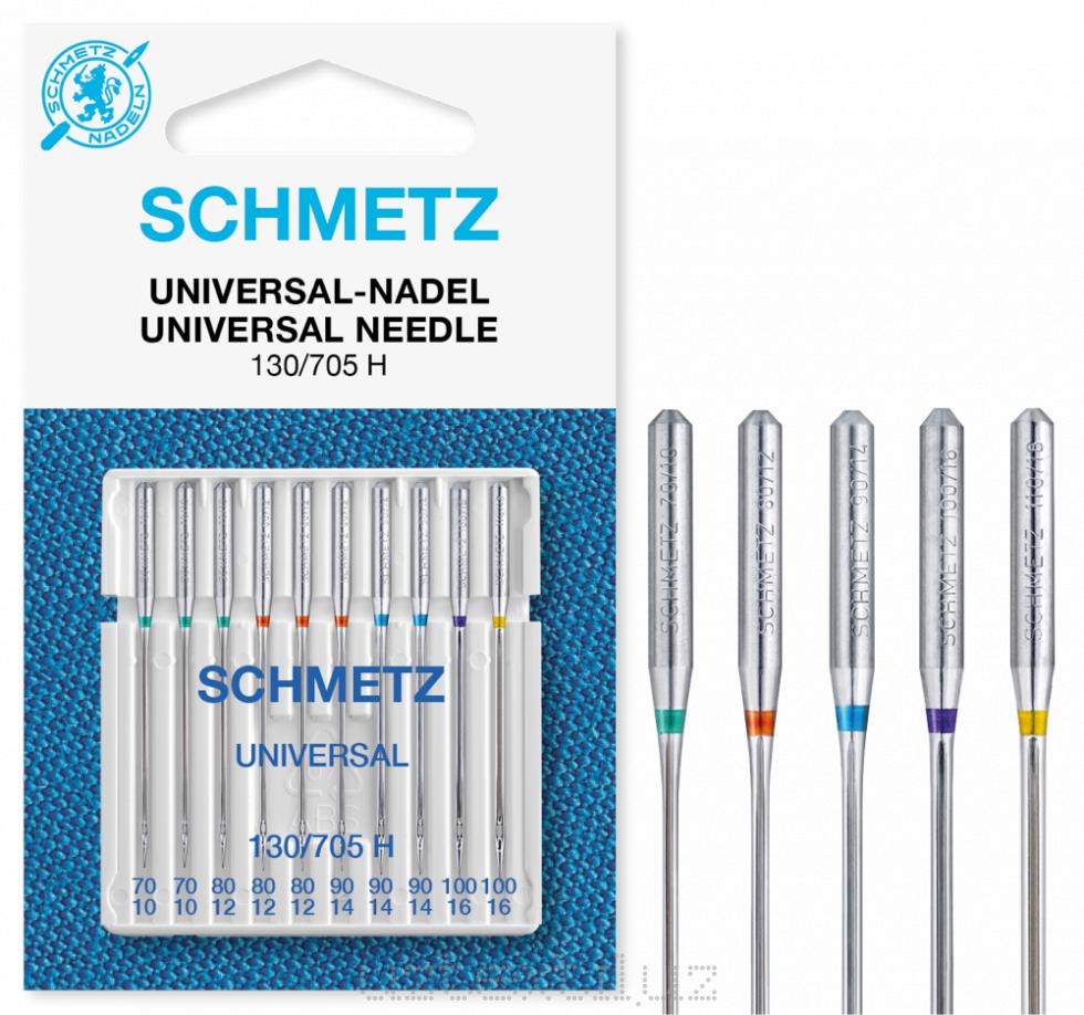 Иглы Универсальные Schmetz набор 130/705H №70,80(6)90(3) 10 шт