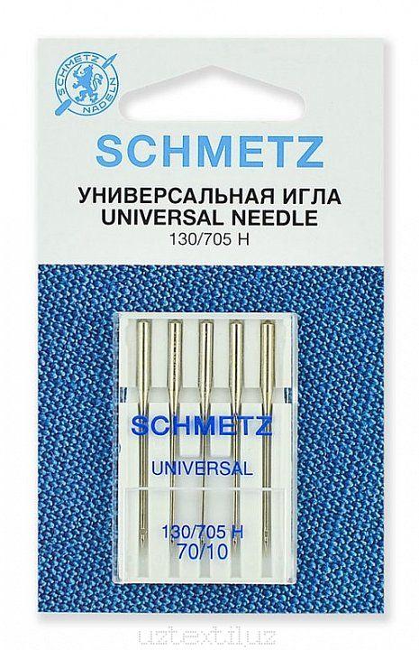 Иглы Универсальные Schmetz 130/705H №70 размер 5 шт