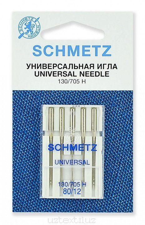 Иглы Универсальные Schmetz 130/705H №80 размер 5 шт