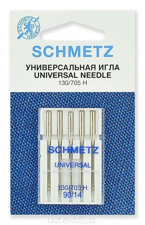 Иглы Универсальные Schmetz 130/705H №90 размер 5 шт