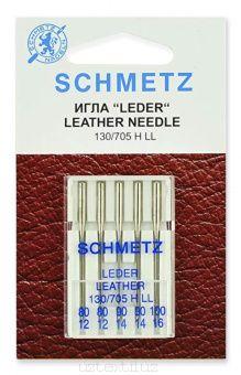 Иглы для кожи Schmetz набор 130/705HLL № 80(2),90(2),100 5 шт