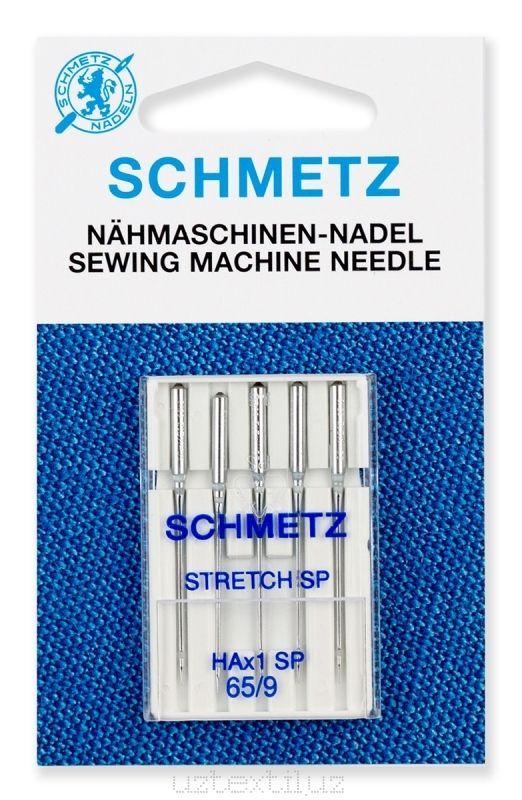Иглы Стретч Schmetz 130/705HA x 1 SP №65 размер 5 шт для трикотажа