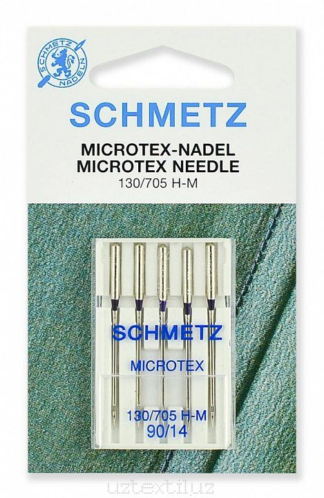 Иглы Microtex Schmetz 130/705H-M №90 размер, Микротекс 5 шт