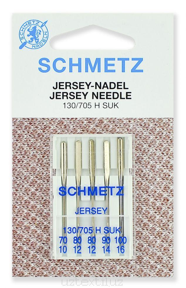 Набор игл Джерси Schmetz 130/705Н № 70, 80(2),90,100 SUK - 5 шт