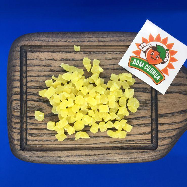 Ананас кубики желтые