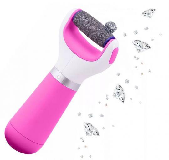 Роликовая электрическая пилка с розовой ручкой