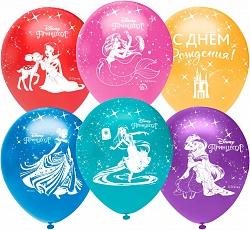 Принцессы Диснея, С Днем Рождения!, Ассорти, пастель, 5 ст, 25 шт.