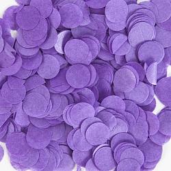 Конфетти тишью Круг, Фиолетовый , 1 см, 50 г.