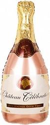 Бутылка Шампанское, Розовое Золото, 36''/91 см