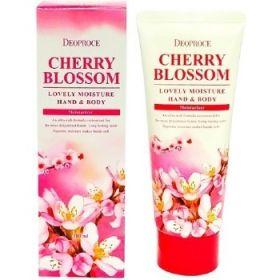 Deoproce Cherry Blossom Lovely Moisture Hand & Body 100ml - крем для рук и тела с экстрактом цветов вишни
