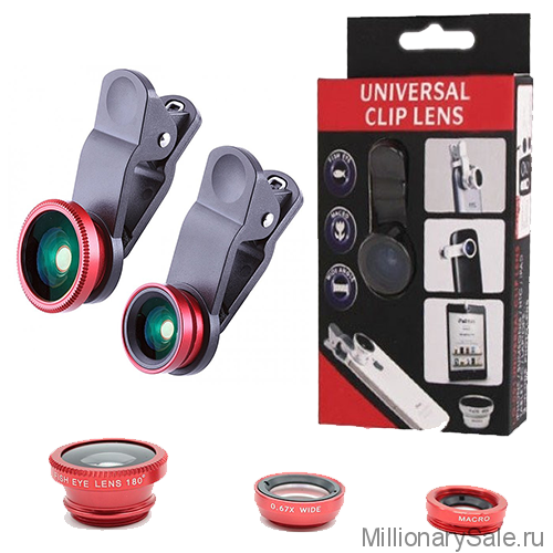 Универсальный набор объективов Universal Clip Lens 3 в 1