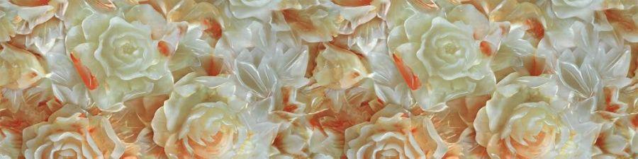 Кухонный фартук 06 Стеклянные Розы