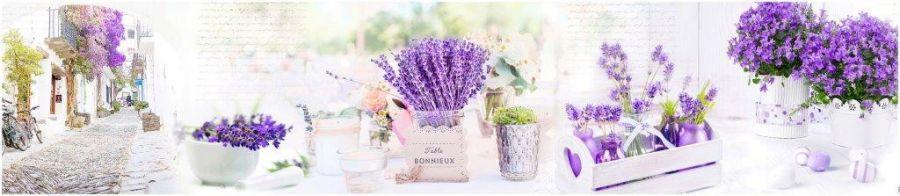 Кухонный фартук AG 110 - Лаванда Цветы