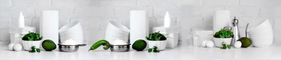 Кухонный фартук BS 185 - Натюрморт Посуда