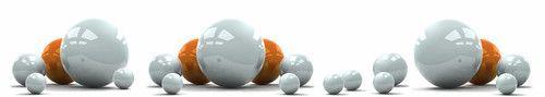 Кухонный фартук BS 55 - Белые и оранжевые шары