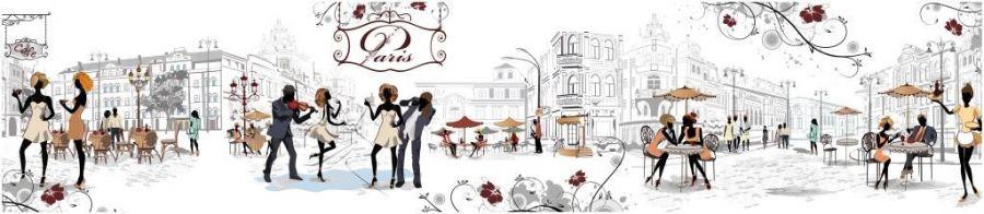 Кухонный фартук TOP 28 - Парижские улочки