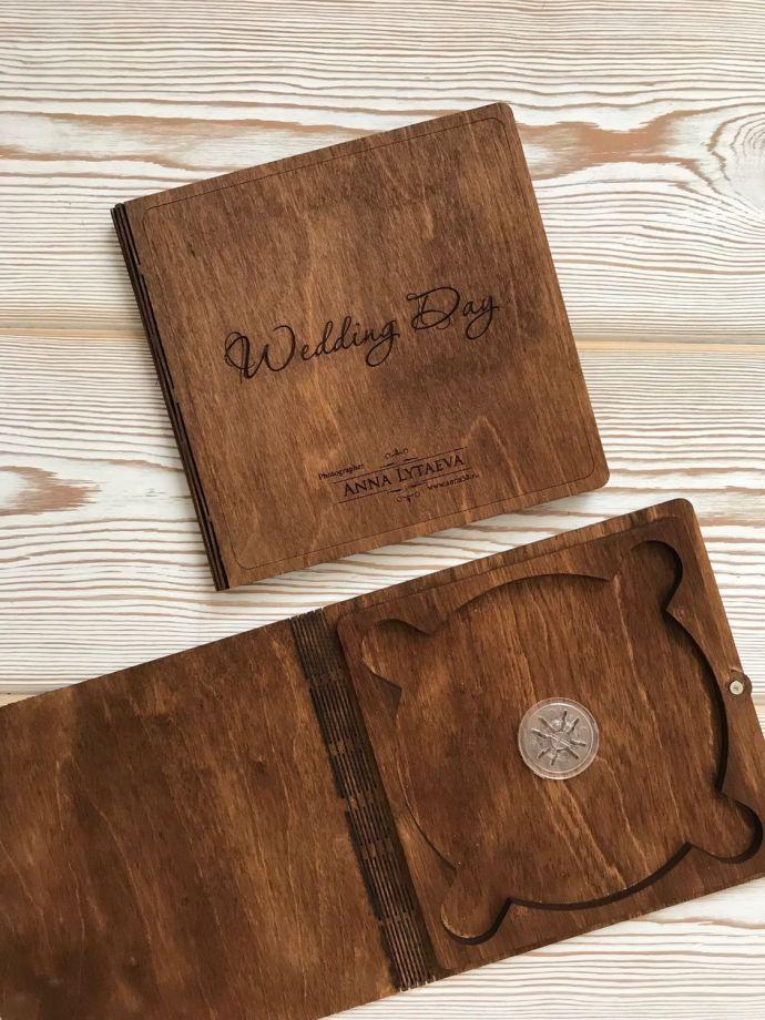 Деревянная коробка для диска на магнитах