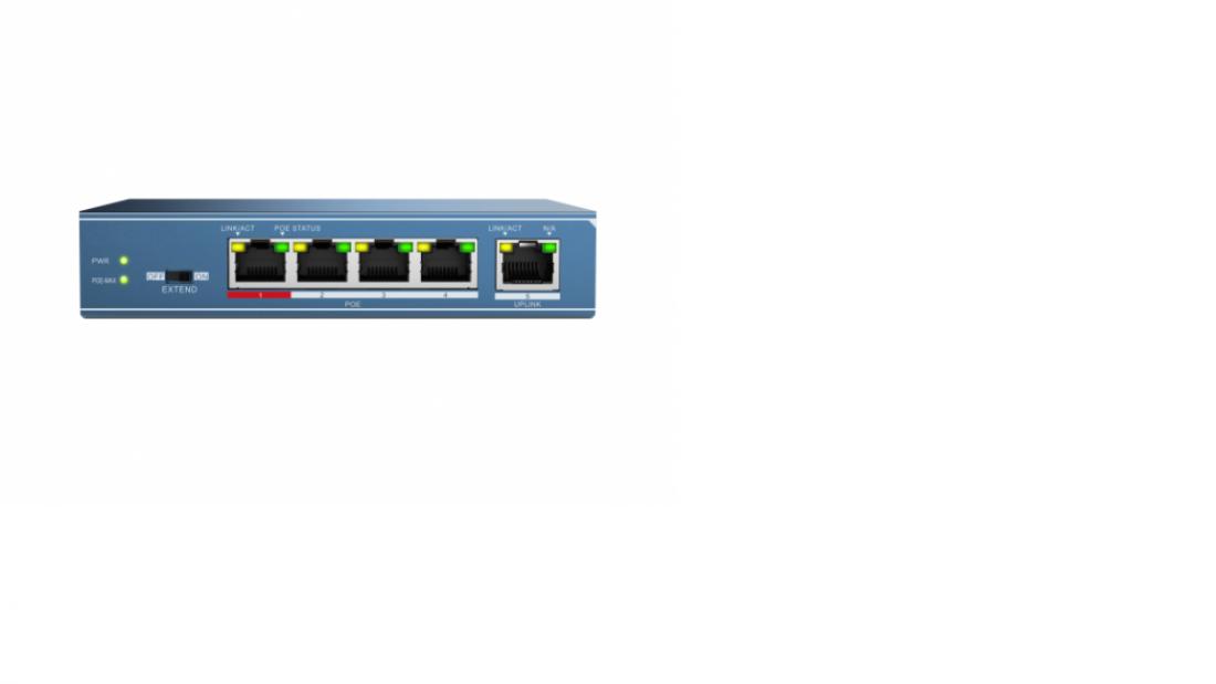 Сетевой неуправляемый коммутатор HiWatch DS-S504P