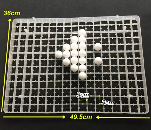 Лоток пластиковый перепелиный 221 яйцо.