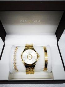 Набор женский: Часы №2 + 2 браслета Pandora