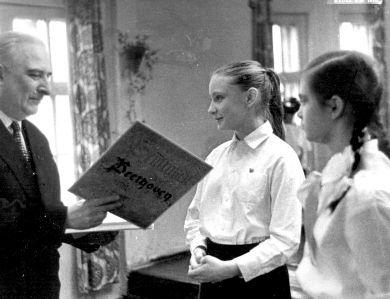 Награждение Кублицкой Ольги и Чуркиной Натальи (1-е место)