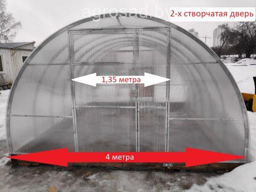 Теплица Сибирская двустворчатая - 6 м (труба 40х20, шаг 0,5 метра)