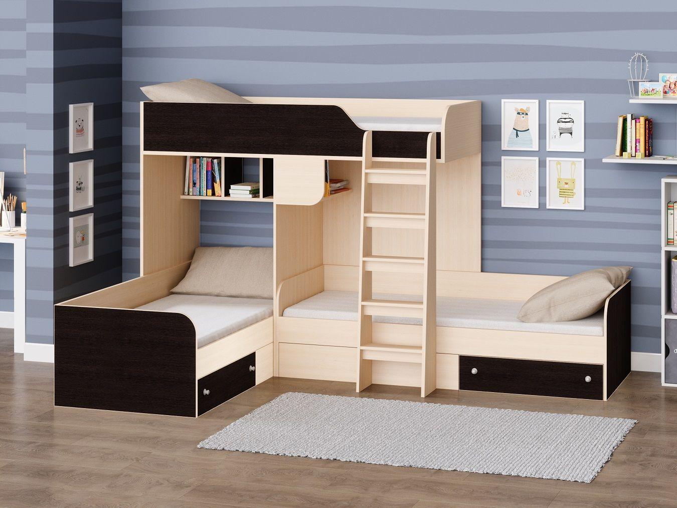 """Трехместная кровать """"Трио"""""""