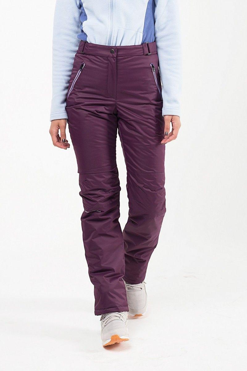 Утепленные женские брюки мембрана темно фиолетовый HEIDEN вид2