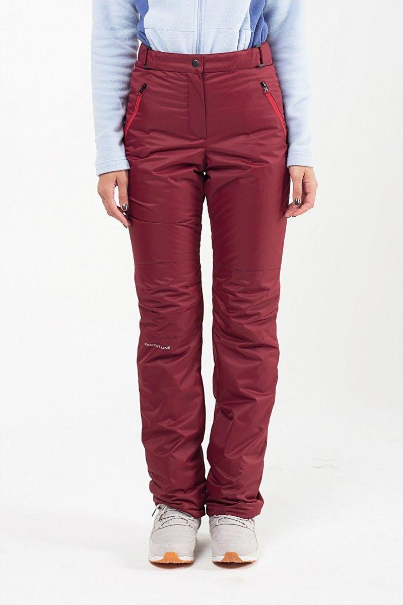 Утепленные женские брюки мембрана бордо HEIDEN вид2