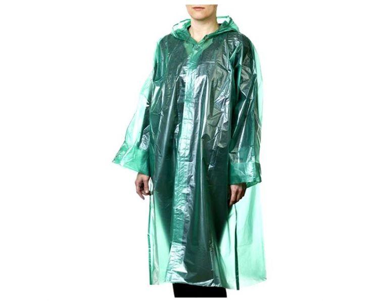 Плащ-дождевик с застежкой на липучке (зеленый)