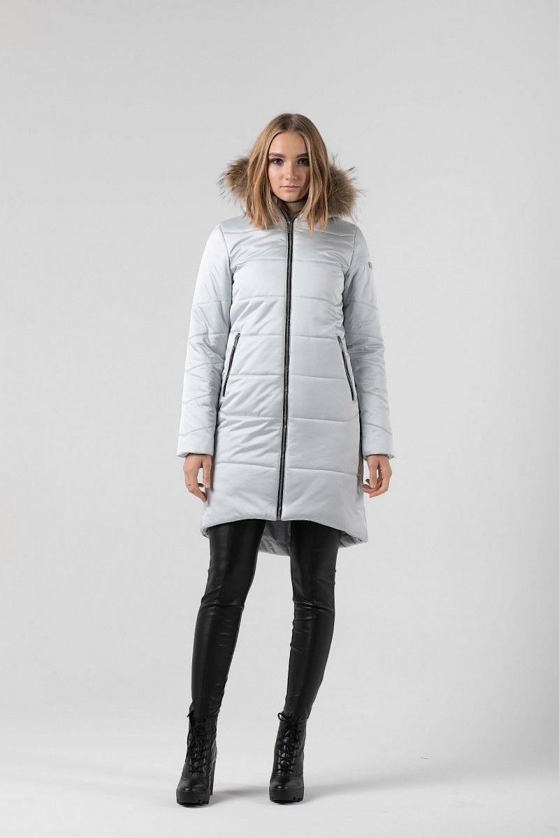 Пальто женское HEIDEN цвет серебро вид2