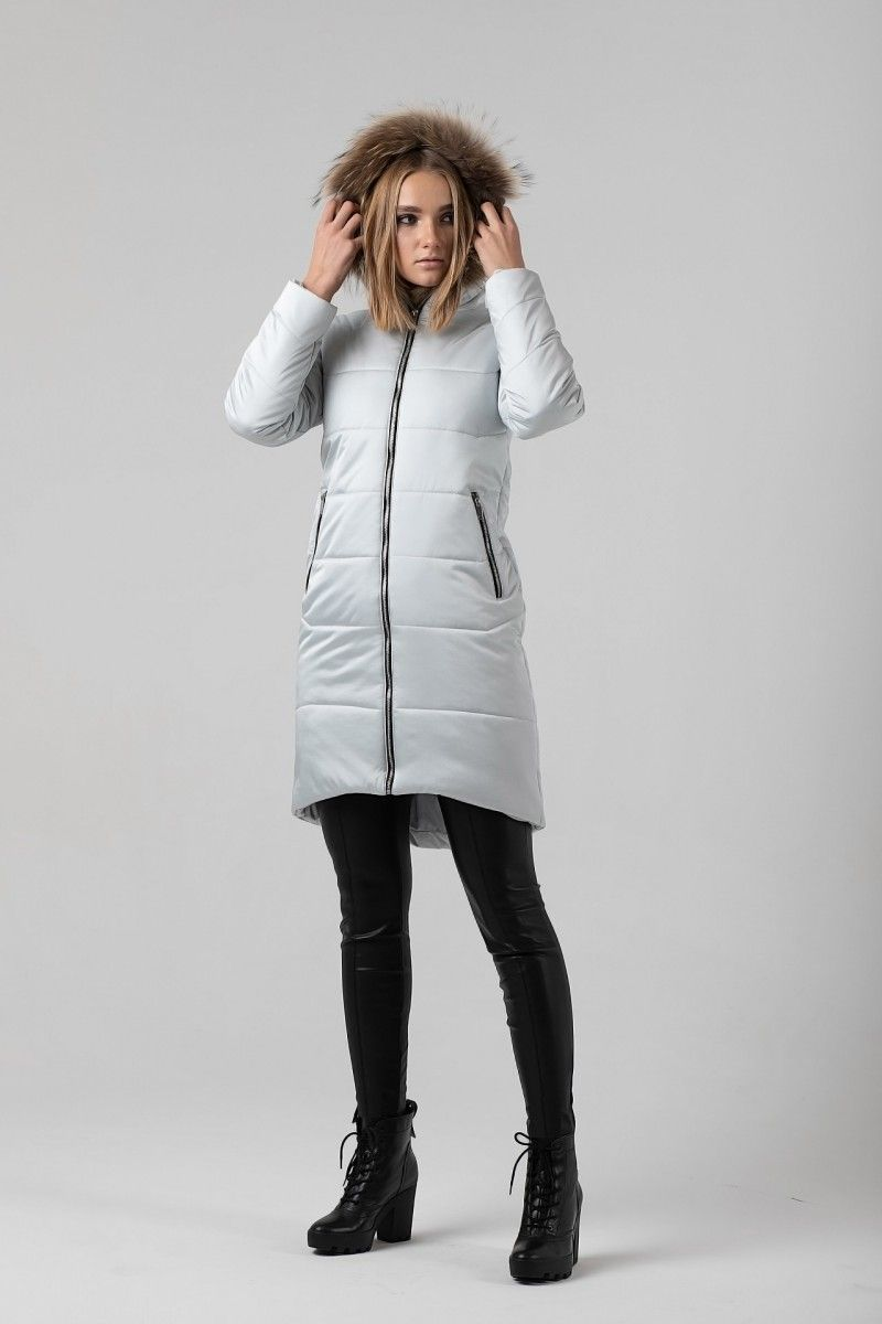 Пальто женское HEIDEN цвет серебро вид5